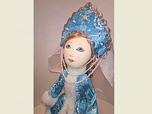"""Шьем текстильную куклу """"Снегурочка"""". Ярмарка Мастеров - ручная работа, handmade."""