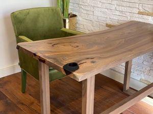 Лаконичный письменный стол из слэба. Ярмарка Мастеров - ручная работа, handmade.