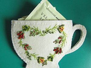 Креативная чашечка для хранения чайных пакетиков. Ярмарка Мастеров - ручная работа, handmade.