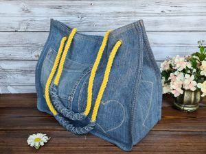 Сумка из джинсов. Ярмарка Мастеров - ручная работа, handmade.
