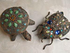 Мастерим шкатулки: «Черепаха» и «Жук». Ярмарка Мастеров - ручная работа, handmade.