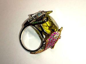 Скидка на кольцо с натуральным цитрином!!!. Ярмарка Мастеров - ручная работа, handmade.