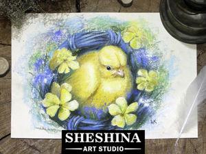 Видеоурок: как нарисовать пасхального цыпленка сухой пастелью. Ярмарка Мастеров - ручная работа, handmade.