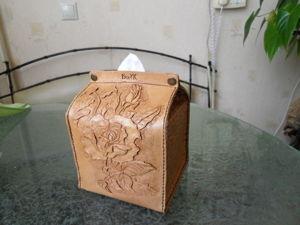Салфетница кожаная с тиснением. Ярмарка Мастеров - ручная работа, handmade.