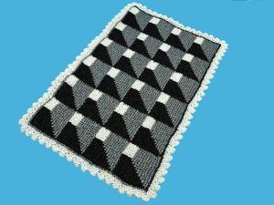 Вяжем 3D узор для коврика крючком. Ярмарка Мастеров - ручная работа, handmade.