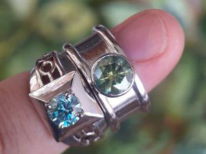 Роскошное кольцо с бриллиантом  «Инстинкт». Ярмарка Мастеров - ручная работа, handmade.