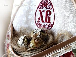 Создаем пасхальное кашпо с вышивкой. Ярмарка Мастеров - ручная работа, handmade.