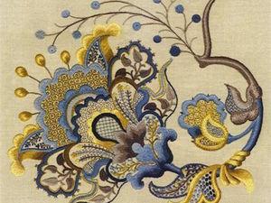 Якобинская вышивка, крюил, художественная гладь: расставляем точки над «i». Ярмарка Мастеров - ручная работа, handmade.