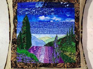 Шьем лоскутную подушку с пейзажем «Прованс». Ярмарка Мастеров - ручная работа, handmade.