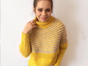 Вяжем тёплый свитер. Ярмарка Мастеров - ручная работа, handmade.