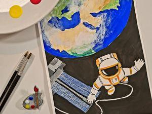 Рисуем космонавта. Ярмарка Мастеров - ручная работа, handmade.