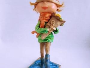 "Кукла ""Цветы для мамы"" или ""8 марта"". Ярмарка Мастеров - ручная работа, handmade."