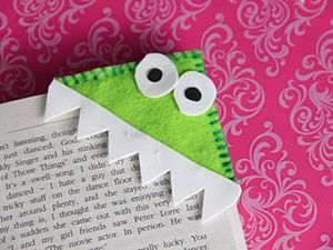 Simple Kids DIY on Making a Funny Monster Bookmark. Livemaster - handmade