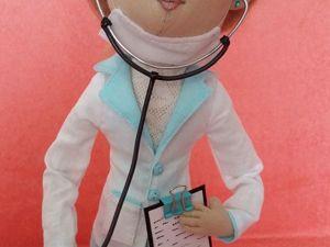 Делаем фонендоскоп для куклы. Ярмарка Мастеров - ручная работа, handmade.