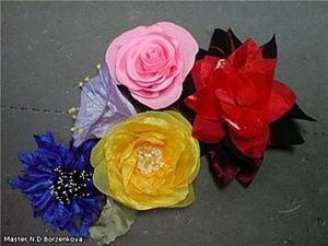 «Лютики-цветочки у меня в садочке...» Мастерим цветы из шифона. Ярмарка Мастеров - ручная работа, handmade.