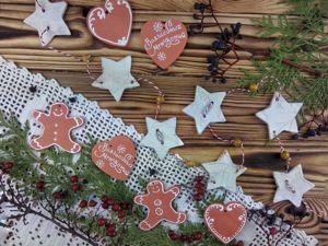 Как сделать новогоднюю гирлянду из полимерной глины. Ярмарка Мастеров - ручная работа, handmade.