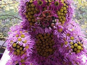 Создаем медвежонка из цветов. Ярмарка Мастеров - ручная работа, handmade.