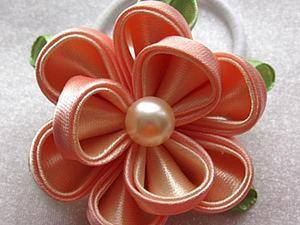Канзаши. Создаем резиночку для волос с нуля. Ярмарка Мастеров - ручная работа, handmade.