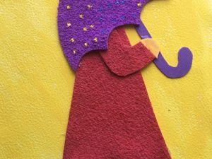 Делаем аппликацию из фоамирана вместе с детьми. Шаблон прилагается. Ярмарка Мастеров - ручная работа, handmade.