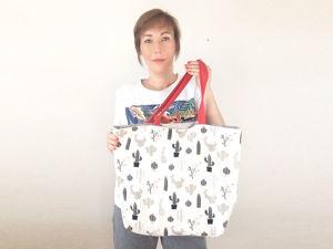 Шьем простую сумку шоппер с подкладкой. Ярмарка Мастеров - ручная работа, handmade.