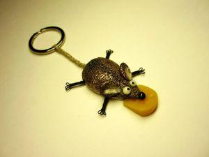 Мастер-класс по изготовлению брелока «Мышь». Ярмарка Мастеров - ручная работа, handmade.
