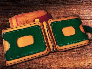 Зажим для купюр с отделениями для карт  «Combo». Ярмарка Мастеров - ручная работа, handmade.