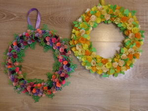 Венок из бумажных цветов. Ярмарка Мастеров - ручная работа, handmade.