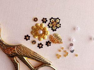 Вышиваем бисером и пайетками необыкновенные цветы. Ярмарка Мастеров - ручная работа, handmade.