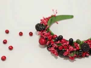 Видеоурок: делаем ягодный ободок для волос. Ярмарка Мастеров - ручная работа, handmade.