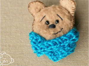 Creating Bear Brooch From Leftovers And Scraps. Livemaster - handmade