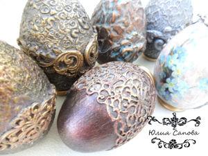 Шесть способов декора интерьерных яиц. Мастер-класс №1. Ярмарка Мастеров - ручная работа, handmade.
