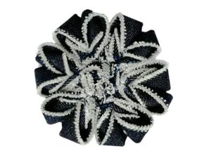 Мастерим джинсовую снежинку. Ярмарка Мастеров - ручная работа, handmade.