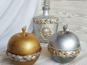 Шкатулка Яблочко серебряное или золотое. Ярмарка Мастеров - ручная работа, handmade.
