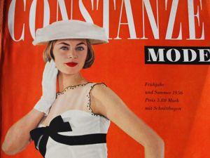 Constanze -mode -старый журнал мод из Германии -Весна и лето 1956. Ярмарка Мастеров - ручная работа, handmade.