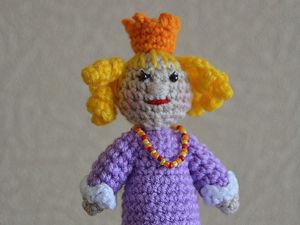 Вяжем кукол для пальчикового театра. Принцесса. Ярмарка Мастеров - ручная работа, handmade.