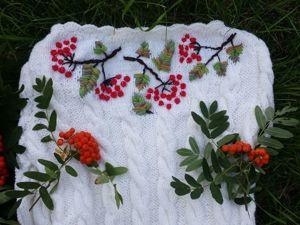 Мастер-класс: вышивка «Рябинка» на вязаном платье. Ярмарка Мастеров - ручная работа, handmade.