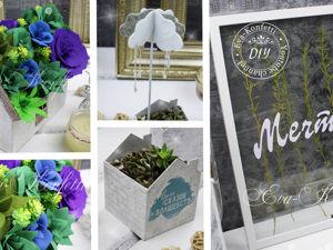 Делаем домик с суккулентами, кашпо из картона, картину с сухоцветами. Ярмарка Мастеров - ручная работа, handmade.