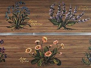 Роспись на мебели «Альпийские травы». Ярмарка Мастеров - ручная работа, handmade.