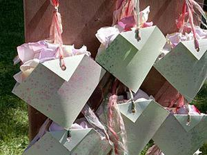 Делаем свадебные кулечки для лепестков. Ярмарка Мастеров - ручная работа, handmade.