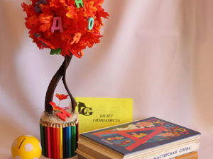 Мастер-класс по созданию топиария «Древо знаний». Ярмарка Мастеров - ручная работа, handmade.