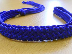 Пояс. Плетение из шнуров. Часть 1.. Ярмарка Мастеров - ручная работа, handmade.