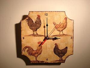 Декорируем часы в технике «декупаж». Ярмарка Мастеров - ручная работа, handmade.