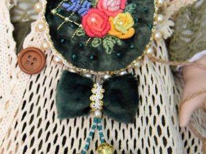 Мастерим брошь с вышивкой рококо. Ярмарка Мастеров - ручная работа, handmade.