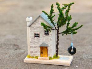 Создаем маленький уютный домик из мягкого дерева. Ярмарка Мастеров - ручная работа, handmade.