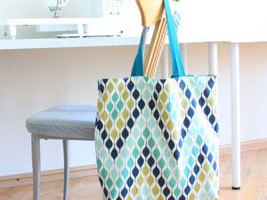 Шьем сумку шоппер с карманом. Ярмарка Мастеров - ручная работа, handmade.