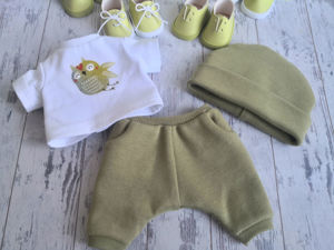 Мастер-класс по созданию одежды для куклы: Спортивные штанишки и шапочка. Ярмарка Мастеров - ручная работа, handmade.