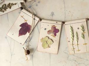 Осенний декор. Ботаническая гирлянда. Ярмарка Мастеров - ручная работа, handmade.