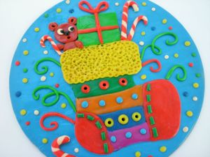 Делаем с детьми панно «Новогодний носочек». Ярмарка Мастеров - ручная работа, handmade.