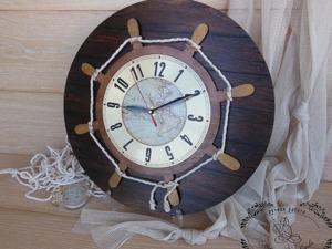 Декорируем часы «Штурвал» в морском стиле. Ярмарка Мастеров - ручная работа, handmade.