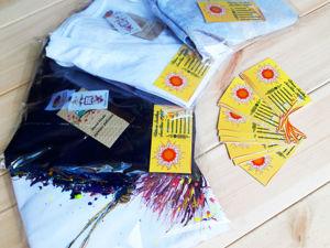 Акция дня! Две футболочки с ручной росписью и доставкой всего 2500!. Ярмарка Мастеров - ручная работа, handmade.
